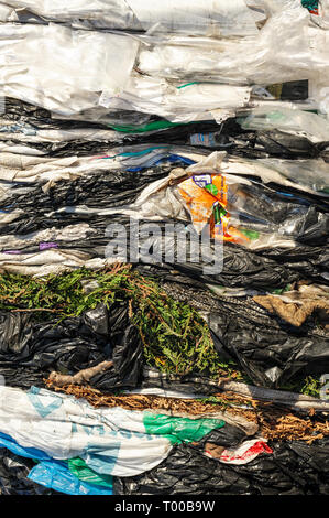 Cellophane Extruded Material for Processing in a Factory. - Stock Photo