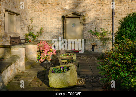 DLI - Durham Light Infantry Army Regiment Memorial Garden in the cathedral grounds, Durham England - Stock Photo