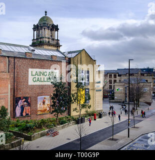 Laing Art Gallery in Newcastle upon Tyne - Stock Photo