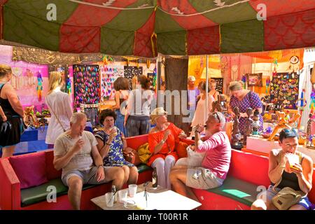 Las Dalias Hippy Market, Sant Carles de Peralta, Ibiza, Balearic Islands, Spain - Stock Photo