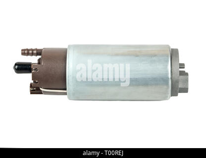 New metal fuel pump for auto isolated on white background - Stock Photo
