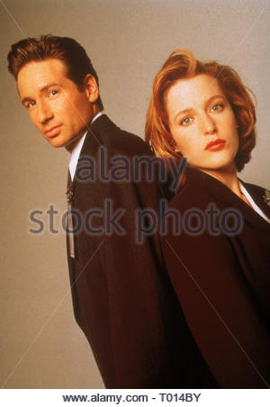 DAVID DUCHOVNY, GILLIAN ANDERSON, THE X FILES, 1993 - Stock Photo