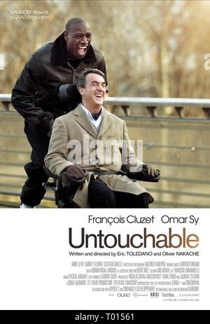 OMAR SY, FRANCOIS CLUZET POSTER, INTOUCHABLES, 2011 - Stock Photo
