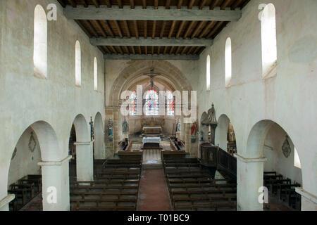 Frankreich, Champagne-Ardenne, Haute-Marne, Montier-en-Der, Droyes, Kirche Notre Dame - Stock Photo