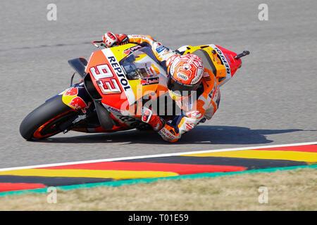 Marc Marquez (SPA) of Repsol Honda Team, MotoGP World Championship 2018, Pramac Motorrad Grand Prix Deutschland, Sachsenring, 13.07.2018 - Stock Photo