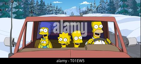 THE SIMPSONS MOVIE, MARGE, MAGGIE, LISA, BART , HOMER, 2007 - Stock Photo