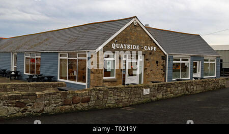 Quayside Cafe Amble  Amble is a small town on the north east coast of Northumberland in North East England. Cw 6660 - Stock Photo