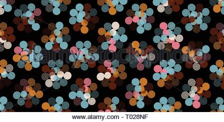 Creative abstract spirograph flower vector illustration background from spirals - Stock Photo
