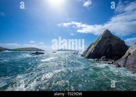 Dunquin Pier on Dingle Peninsula, Co Kerry, Ireland - Stock Photo