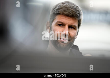 Sport Board Thomas Hitzlsperger (VfB Stuttgart), portrait, portrait, head. GES/Football/1. Bundesliga: VFB Stuttgart - TSG Hoffenheim, 16.03.2019 - Football/Soccer 1st Division: VFB Stuttgart vs TSG Hoffenheim, Stuttgart, Mar 16, 2019 - DFL regulations prohibit any use of photographs as image sequences and/or quasi-video. | usage worldwide - Stock Photo