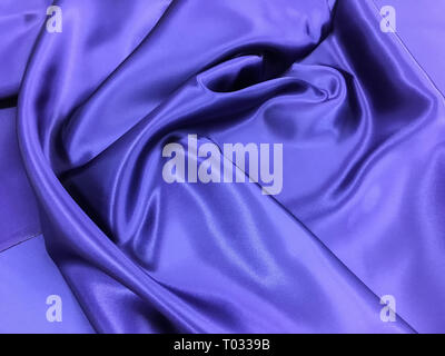 abstract photo of twisted petals in colors of the year 2018 ultra violet - Stock Photo