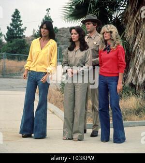KATE JACKSON, JACLYN SMITH, FARRAH FAWCETT, CHARLIE'S ANGELS, 1976 - Stock Photo