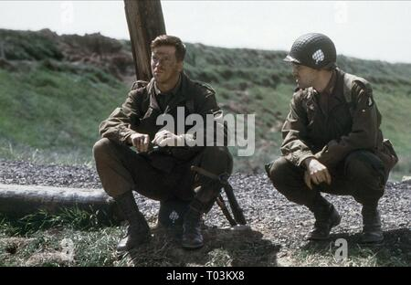 DAMIAN LEWIS, RON LIVINGSTON, BAND OF BROTHERS, 2001 - Stock Photo