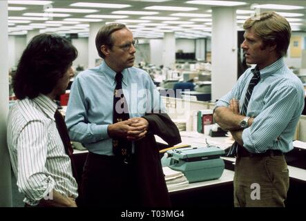 DUSTIN HOFFMAN, ROBERT REDFORD, ALL THE PRESIDENT'S MEN, 1976 - Stock Photo