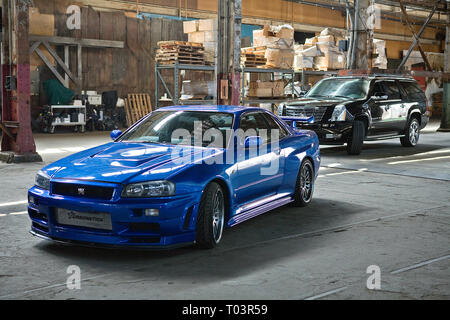 1998 NISSAN SKYLINE ER34, FAST and FURIOUS, 2009 - Stock Photo