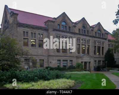 Campus and university buildings of a private liberal arts college in Oberlin, Ohio - Stock Photo
