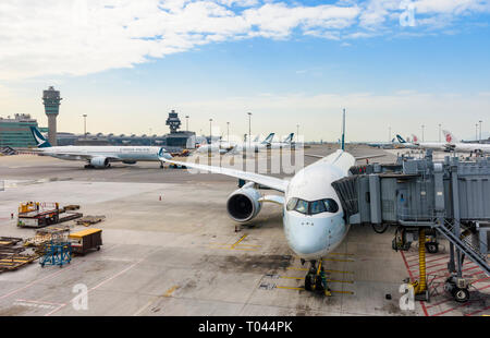 Hong Kong International Airport, Chek Lap Kok, Hong Kong - Stock Photo