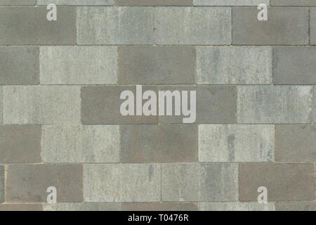 Gray paving slab laid out with geometric pattern, abstract texture, background - Stock Photo