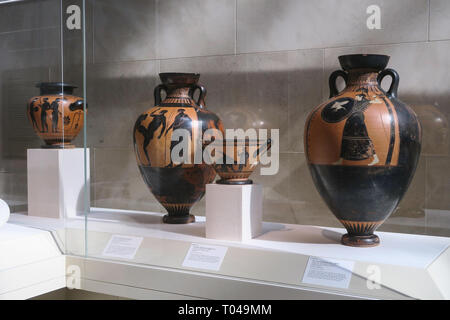 Greek and Roman Art Wing of the Metropolitan Museum of Art, New York City, USA - Stock Photo