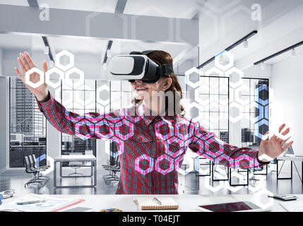 Virtual reality experience - Stock Photo