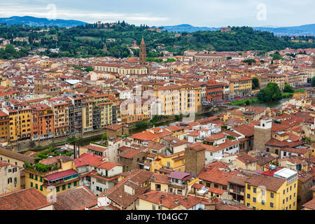 Florence, Tuscany, Italy seen from the Palazzo Vecchio. - Stock Photo