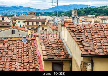 Florence, Tuscany, Italy seen from the Palazzo Vecchio - Stock Photo