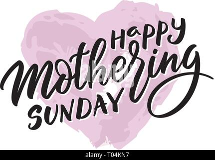 Mothering Sunday text - typography, hand-lettering, calligraphy