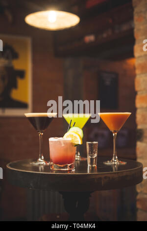 collection of cocktails on table - Stock Photo