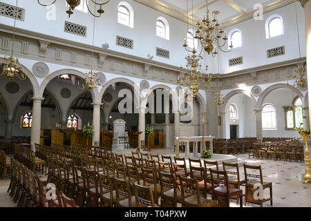 Inside the Roman Catholic Cathedral of St Mary and St Helen - also known as Brentwood Cathedral, Essex, UK - Stock Photo
