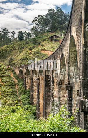 The Nine Arch Bridge, also called the Bridge in the Sky, is a bridge in Sri Lanka. It is one of the best examples of colonial-era railway construction - Stock Photo