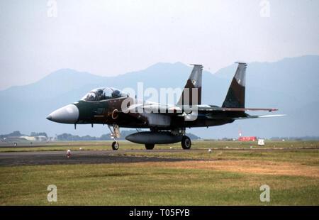 Japanische Luftwaffe JASDF Mitsubishi F-15DJ Eagle - Stock Photo