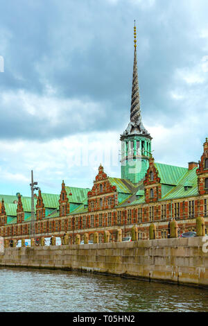 Spire of Borsen building, Copenhagen, Denmark - Stock Photo