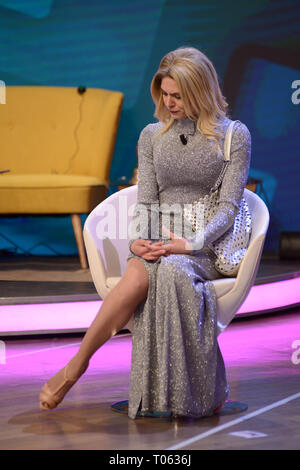 Milan, Italy. 17th Mar, 2019. Milan, TV broadcast 'Quelli che il calcio' - Brenda Lodigiani (Wanda Nara) Credit: Independent Photo Agency/Alamy Live News - Stock Photo