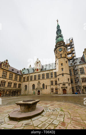 Exterior view of the famous Kronborg Castle at Denmark - Stock Photo