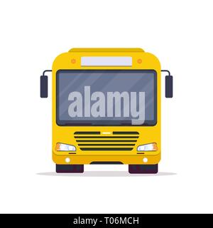 Front view of city bus - Stock Photo