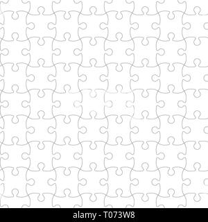 Jigsaw Puzzle Template. Puzzle seamless pattern. Vector illustration. - Stock Photo