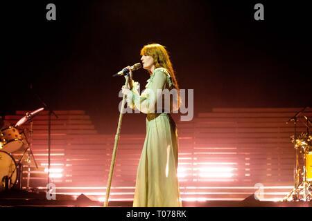 Bologna, Italy. 17th Mar 2019. Florence   The Machine live at Unipol Arena Bologna Credit: Roberto Finizio/Alamy Live News - Stock Photo