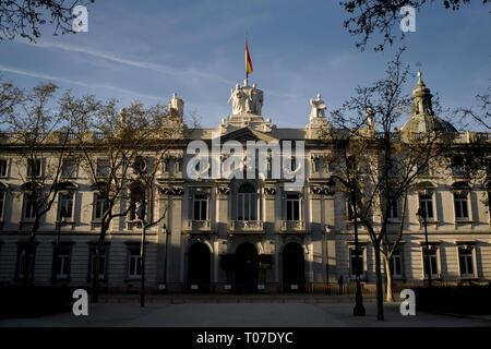 Madrid, Spain. 16th Mar, 2019. Spanish Supreme Court building (Tribunal Supremo) in Madrid Credit: Jordi Boixareu/ZUMA Wire/Alamy Live News - Stock Photo
