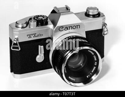 photography, cameras, reflex camera by Canon, camera model 'TLb', 1970s, Additional-Rights-Clearance-Info-Not-Available - Stock Photo
