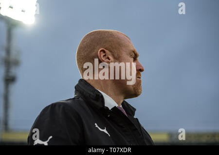 LONDON, ENGLAND - DECEMBER 01: manager Sean Dyche of Burnley FC during the Premier League match between Crystal Palace and Burnley FC at Selhurst Park on December 1, 2018 in London, United Kingdom. (Photo by Sebastian Frej/MB Media) - Stock Photo