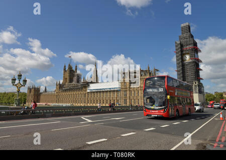 Westminster Palace, London, England, Grossbritannien - Stock Photo