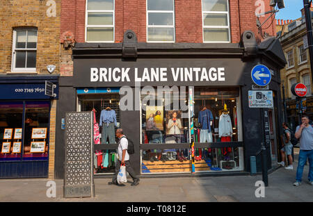 Laeden, Brick Lane, Tower Hamlets, London, England, Grossbritannien - Stock Photo