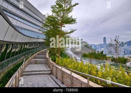 Hong Kong West Kowloon Railway Station - Stock Photo