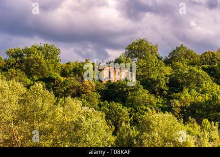 summer rural scenery in Val D'Agri, Basilicata - Stock Photo