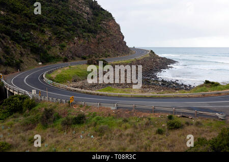 A Section of the Great Ocean Road, Victoria, Australia - Stock Photo