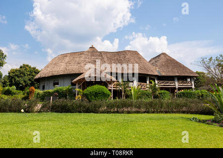 Crater Safari Lodge located close to Kibale Forest National Park in South West Uganda, East Africa Stock Photo