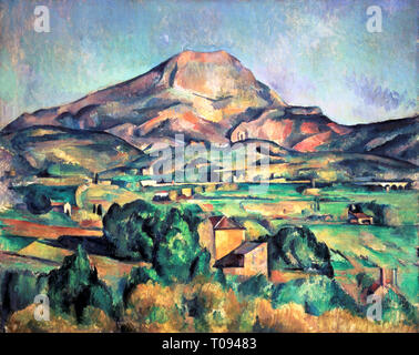 Paul Cézanne, Mont Sainte-Victoire seen from Bellevue, painting, 1885 - Stock Photo
