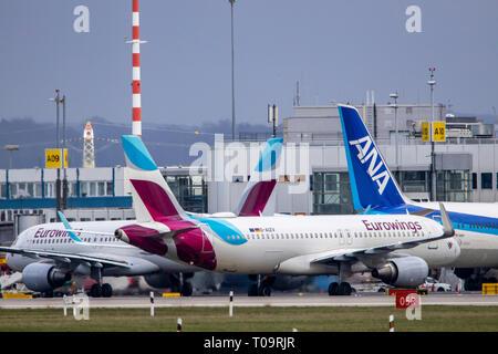 Dusseldorf International Airport, DUS, Eurowings plane, ANA, - Stock Photo