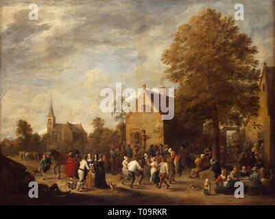 'Rural Feast'. Flanders, 1648. Dimensions: 97x129 cm. Museum: State Hermitage, St. Petersburg. Author: David Teniers II. - Stock Photo