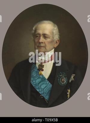 'Portrait of His Highness Prince Alexander Mikhailovich Gorchakov'. Russia, 1870s. Dimensions: 71x58 cm. Museum: State Hermitage, St. Petersburg. Author: Nikolay Bogatsky . Nikolai Timofeyevich Bogatsky. - Stock Photo